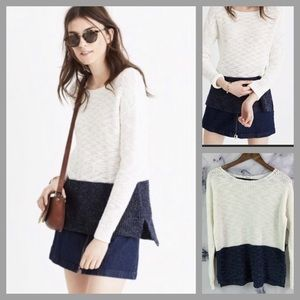 Madewell Eastbank Pullover Sweater Colorblock M